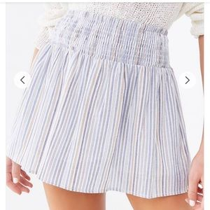 Stripped Multicored mini skirt
